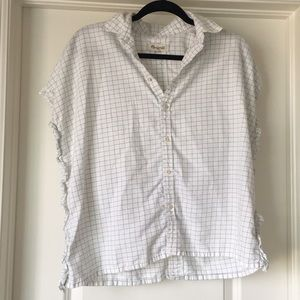 Madewell Ruffle Button Up Top